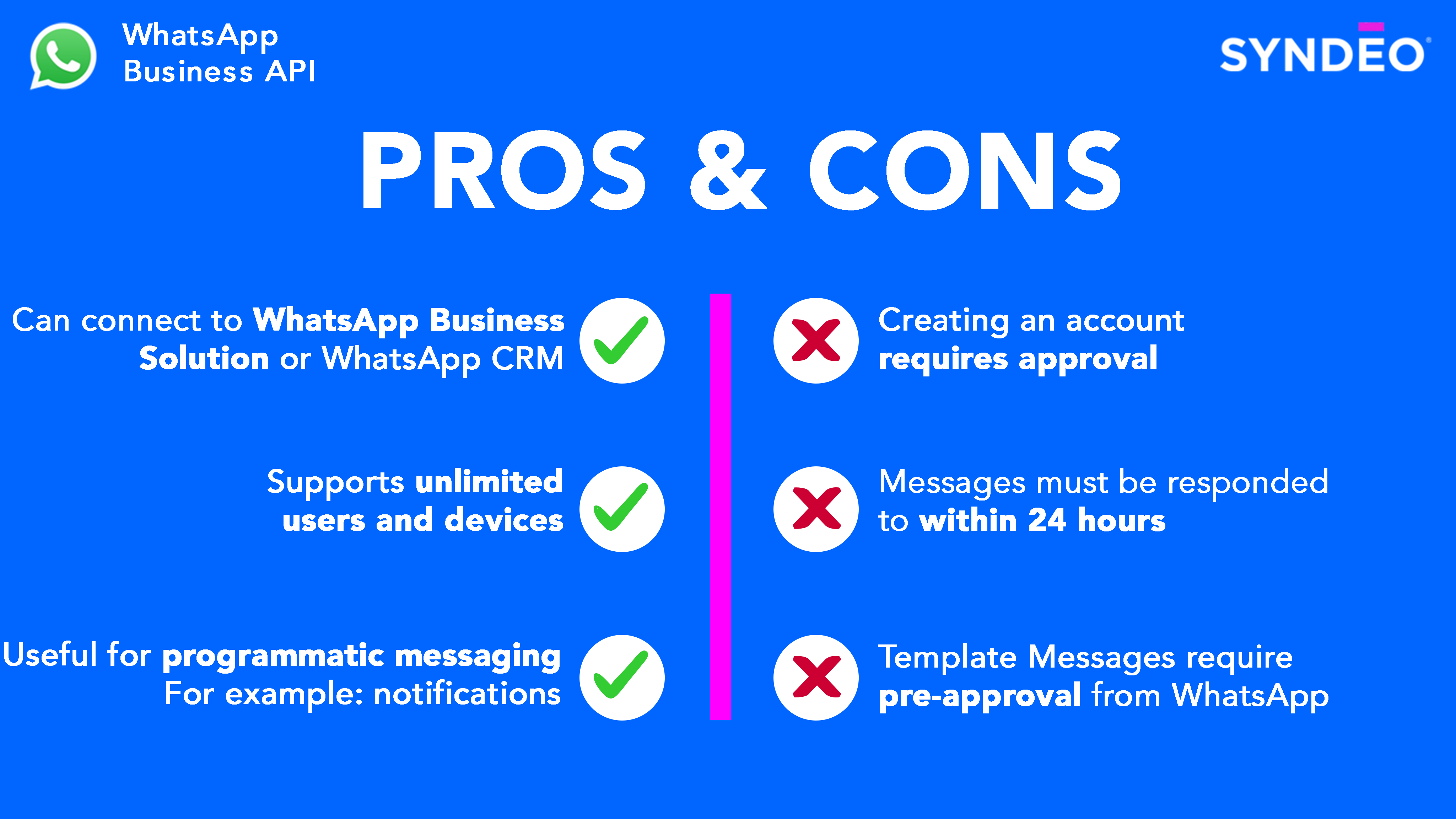 WhatsApp Pros and Cons #2